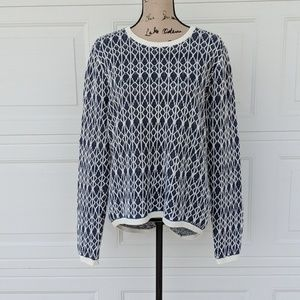 Ann Taylor LOFT 100% LINEN Long Sleeve Sweater XL